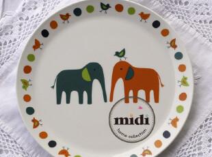 英国原单 白瓷餐具 大象 8.5寸披萨盘 平盘 圆盘 白瓷,盘碟,