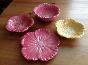 外贸出口 余单陶瓷餐具 花朵造型 碟子 瑕疵特价,盘碟,