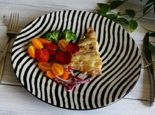 陶瓷餐具 非洲之舞 瓷器盘子 餐盘 果盘 西餐盘 瓷 菜盘,盘碟,