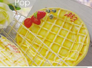 我的华夫饼。超萌卡通创意外贸冷菜盘 个性烘焙甜点小清新手绘风,盘碟,
