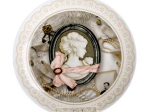 古典美女时尚点心盘 创意骨陶瓷盘子 简约装饰挂盘 家居工艺餐盘,盘碟,