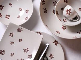 外贸出口陶瓷 新加坡Luzerne 枫之星 6头餐盘 汤碗 饭碗 咖啡杯,盘碟,