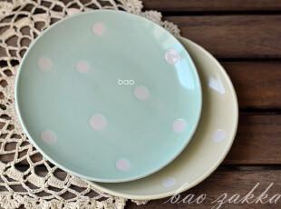皇冠特惠 BAO ZAKKA 杂货 日单 水玉点 淡水色 陶瓷小碟 2色一组,盘碟,