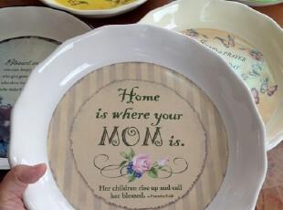 ABBEY PRESS 外贸余单陶瓷餐具 英文印花 盘子 轻微瑕疵特价,盘碟,