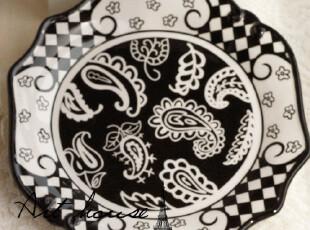 出口欧美 维多利亚花西餐盘 盘子 外贸出口余单牛排盘 陶瓷盘子,盘碟,
