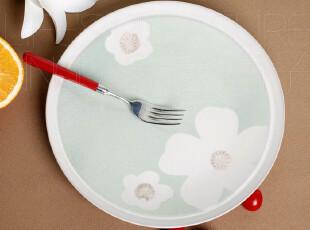 外贸陶瓷餐具 出口欧洲 瓷器 艳阳花 西餐盘子 牛排盘 餐盘 圆盘,盘碟,