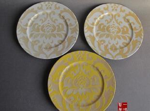 外贸陶瓷餐具繁花 瓷盘子 镂花装饰盘 餐盘 果盘,盘碟,