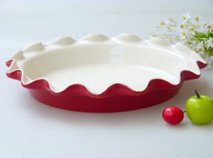 景德镇外贸余单餐具 烘焙模具 荷花边水果盘 披萨盘 大汤盘,盘碟,