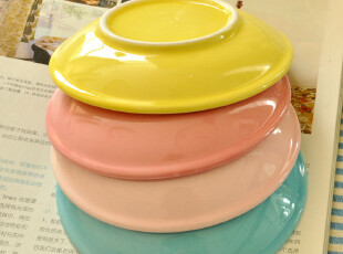 C'designer 卡通陶瓷小味碟零食盘子蛋糕盘.一口价4个.超值推荐!,盘碟,