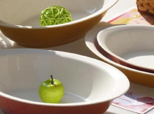 出口外贸余单 烤箱微波炉用 环保色釉陶瓷 烘焙 烤盘 焗饭盘 盘子,盘碟,