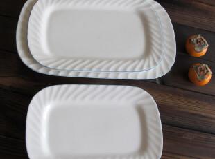 """外贸陶瓷餐具 新加坡LUZERNE""""蓝莲""""长方形陶瓷餐盘 鱼盘 长餐盘,盘碟,"""