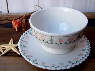 心动特惠 zakka 圣诞织纹 图案 花边  甜品碗,盘碟,
