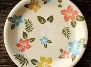 清新森女范儿法式乡村陶瓷餐具南国奇葩龙吐珠浅菜盘点心盘,盘碟,