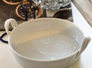 英国皇家道尔顿RD蓝白色双柄圆形烤盘/派盘/匹萨盘 出口 西餐餐具,盘碟,