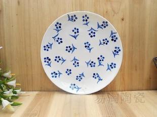 易淘陶瓷 外贸出口日式手绘和风创意餐具盘 盘子餐盘 瓷盘0.4KG,盘碟,