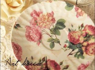 出口欧美外贸复古蔷薇浮雕陶瓷茶盘 蛋糕碟/果盘/调料碟 小吃碟,盘碟,