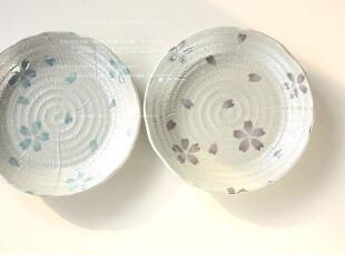日本制    珍珠釉樱花   花边盘,盘碟,