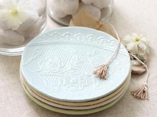 绘生活 陶瓷盘子餐具 沙拉盘 点心盘 餐盘 蕾丝古典1559X,盘碟,