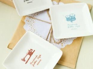 zakka日式创意陶瓷小方碟子盘子 调味碟配料碟 特价西餐餐具,盘碟,