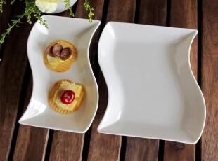 外贸陶瓷餐具出口餐具欧美品牌Luzerne 新骨瓷瓷点心碟/小凉菜碟,盘碟,