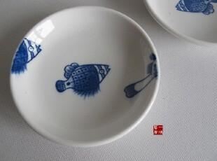 陶瓷餐具 鱼手绘碟子 调料碟 凉菜碟 泡菜碟 点心碟,盘碟,
