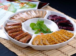 外贸出口原单陶瓷餐具创意 五果盘 纯白 点心盘 盘子 盘糖果盘,盘碟,