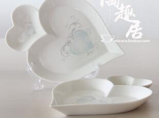 【日本婚庆陶瓷】陶瓷果盘/菜盘  心型碟  HS-018,盘碟,