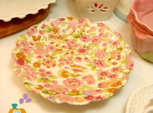 盘子 韩国花边爱丽丝花园陶瓷餐盘/小菜盘/碟子,盘碟,