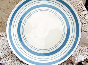 【A grass】外贸陶瓷日式zakka:条条圈圈和点点餐盘\盘子!,盘碟,