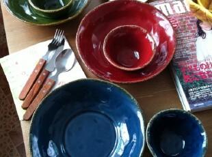 出口余单著名品牌TABLETOPS  窑变做旧纯色汤盘子/小碗,盘碟,