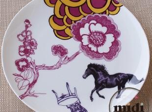 陶瓷餐具 优质骨瓷餐盘 黑骏马 DINNER PLATE,盘碟,