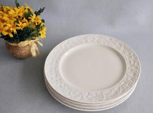 外贸陶瓷餐具 出口瓷器新加坡Luzerne顶级新骨瓷石头釉餐盘西餐盘,盘碟,