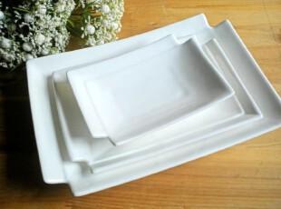 酒店餐具 外贸创意陶瓷餐具纯白盘子创意陶瓷 鱼盘料理盘寿司盘,盘碟,