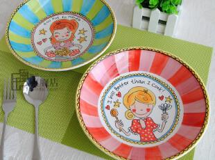 瑕疵Blond|盘子|汤盘|适合盛汤汁较多的菜|出口陶瓷餐具|荷兰尾单,盘碟,