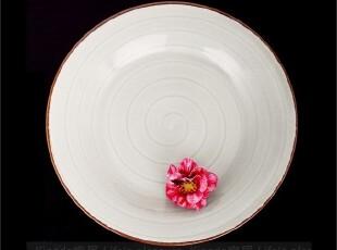 出口瓷器 外贸陶瓷餐具 日韩料理 雅致灰 西餐圆盘 平盘 餐盘,盘碟,