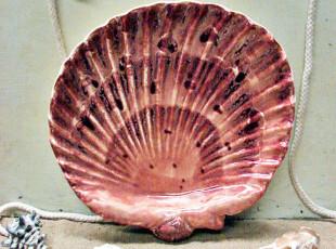 【A grass】外贸陶瓷 深海传说果盆\零食盘!深红色大,盘碟,