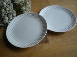 盘子 外贸出口日式和风陶瓷餐具创意原单 可爱点心盘 纯白,盘碟,