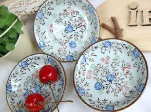 美丽说推荐 小碎花 日式陶瓷碟,盘碟,