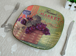 千度陶品*平盘*装饰盘*艺术品*出口餐具*外贸陶瓷*澳大利亚尾单,盘碟,