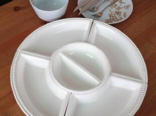 外贸陶瓷餐具 原点边瓷白组合 拼盘 清仓瑕疵特价,盘碟,
