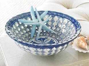 简单的奢华 国内现货包邮 中西合璧青瓷雕空水果装饰盘,盘碟,
