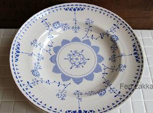FEN ZAKKA 杂货 出口日本原单 蓝花陶瓷盘五件套,盘碟,
