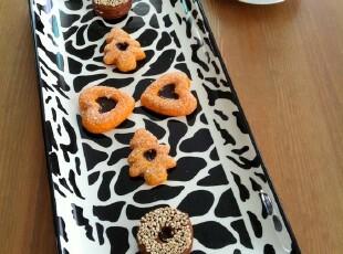 欧美品牌 hausenware 外贸陶瓷餐具 豹纹长托盘子,盘碟,