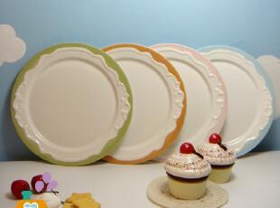 美丽说推荐 盘子 陶瓷餐盘/菜盘/西餐盘/蛋糕盘 爱丽丝公主风,盘碟,