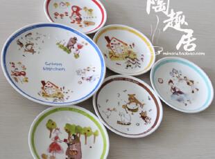 格林童话grimm marchen套装陶瓷一盘五碟 日本原单陶瓷,盘碟,