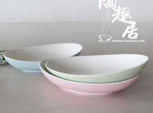 陶瓷船形咖喱专用碗  三色 盒装  出口日本原单陶瓷,盘碟,