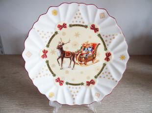 外贸陶瓷德国唯宝villeroy&boch玩具娃娃幻想曲8.5寸描金牛排盘平,盘碟,
