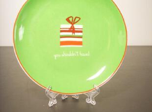 欧美原单/节日缤纷 时尚红绿点心盘/水果盘/陶瓷盘子/外贸原单,盘碟,