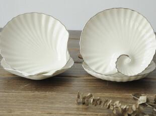 美国进口商品-象牙白镶银边骨瓷盘|装饰盘 有配套黄油刀 出售,盘碟,