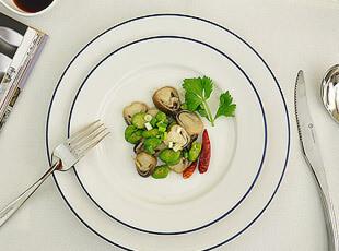 地中海风 陶瓷 白色蓝边 圆盘 菜盘 盘子2件套,盘碟,
